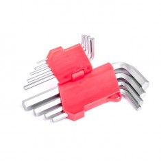 9 pcs HEX key set, 1.5-10 MM, Cr-V INTERTOOL HT-0601: фото 3