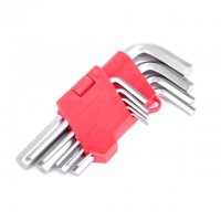 9 pcs HEX key set, 1.5-10 MM, Cr-V INTERTOOL HT-0601