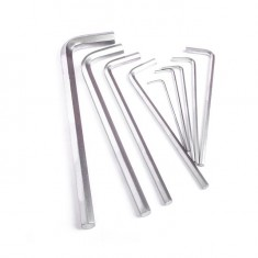 9 pcs HEX key set, 1.5-10 mm, Cr-V, 55 HRC long INTERTOOL HT-0602: фото 5
