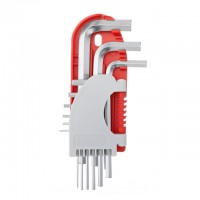 9 pcs HEX key set, 1.5-10 mm short INTERTOOL HT-1801