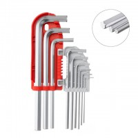 Hex key set 9 pcs, 1.5-10 mm, S2, PROF INTERTOOL HT-1803