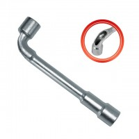 Socket wrench with a hole, L-type 17mm INTERTOOL HT-1617
