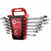 Open end wrench set, 6 pcs., 6-17 mm CrV INTERTOOL HT-1001