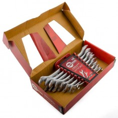 Open end wrench set, 8 pcs., 6-22 mm CrV INTERTOOL HT-1002: фото 2