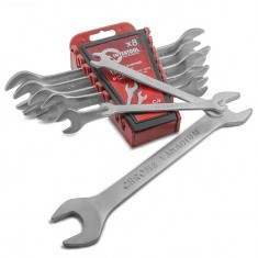 Open end wrench set, 8 pcs., 6-22 mm CrV INTERTOOL HT-1002: фото 8