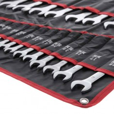 Combination wrench set 25 pcs (cover), 6-32 mm CrV INTERTOOL HT-1200: фото 3