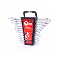 Combination wrench set 12 pcs, 6-22 mm CrV INTERTOOL HT-1203