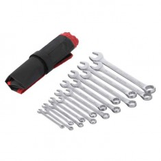Combination wrench set 15 pcs 6-19, 22 mm CrV INTERTOOL HT-1204: фото 2