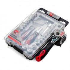 Tool set, 43 pcs, 3/8x1/4, CrV INTERTOOL ET-6003: фото 5