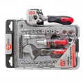 Tool set, 43 pcs, 3/8x1/4, CrV INTERTOOL ET-6003