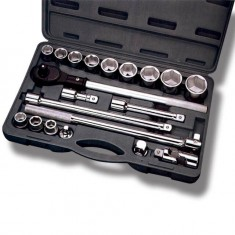 Professional tool set, 20 pcs, plastic case INTERTOOL ET-6023: фото 4