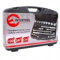 Professional tool set, 20 pcs, plastic case INTERTOOL ET-6023