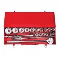 Tool set, 20 pcs, metal case INTERTOOL ET-6024