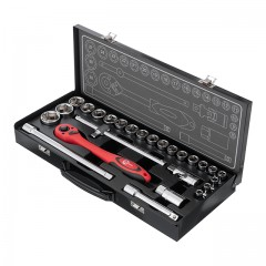 "Professional tool set 1/2"" 26 pcs INTERTOOL ET-6027"