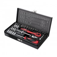 "Tool set 1/4"" 28 pcs INTERTOOL ET-6028"