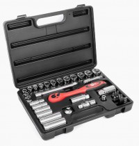 "Professional tool set 39 pcs, 3/8"" CrV INTERTOOL ET-6039"