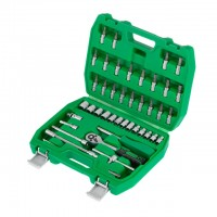 "Professional tool set 46 pcs, 1/4"" CrV INTERTOOL ET-6046"