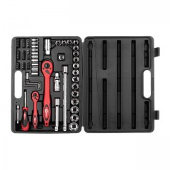 "Professional tool set 72 pcs, 1/2"" & 1/4"", CrV INTERTOOL ET-6072"