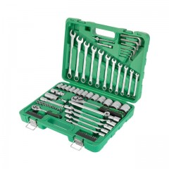 "Professional tool set 1/2"" & 1/4"" 77 pcs INTERTOOL ET-6077"