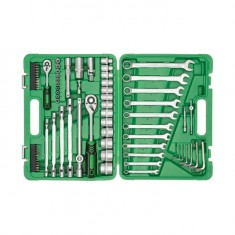 "Professional tool set 1/2"" & 1/4"" 77 pcs INTERTOOL ET-6077: фото 2"
