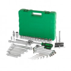 "Professional tool set 1/2"" & 1/4"" 77 pcs INTERTOOL ET-6077: фото 3"