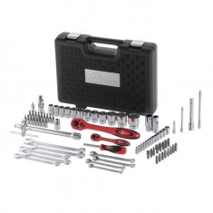 "Professional tool set 1/2"" & 1/4""; 82 pcs INTERTOOL ET-6082: фото 3"