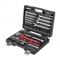 "Professional tool set 1/2"" & 1/4""; 82 pcs INTERTOOL ET-6082"