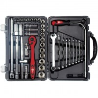 "Professional tool set 39 pcs, 1/2"", CrV INTERTOOL ET-7039"