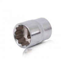 "Bi-hexagonal socket, 1/2"", 22 mm INTERTOOL ET-0222"