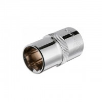 "Hexagonal socket 1/2"", 15 mmx38 mm, CrV INTERTOOL ET-0015"