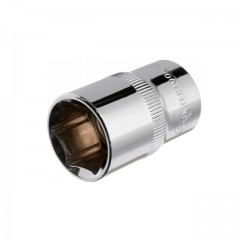 "Hexagonal socket 1/2"", 18 mmx38 mm, CrV INTERTOOL ET-0018"