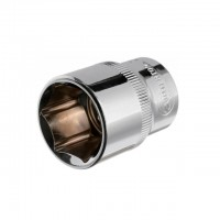 "Hexagonal socket 1/2"", 22 mmx38 mm, CrV INTERTOOL ET-0022"