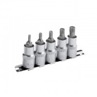 Spline socket set, 5 pcs INTERTOOL HT-1850