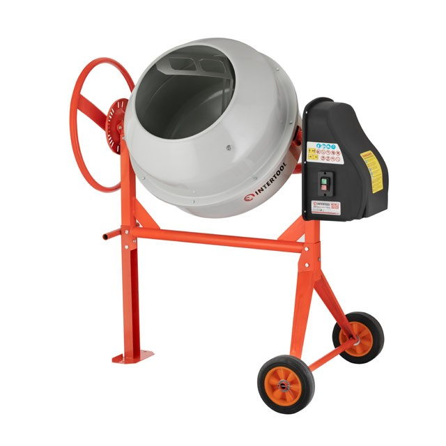 Concrete mixer 375 W, 120 l, 30 rpm INTERTOOL DT-9120