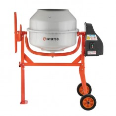 Concrete mixer 375 W, 140 l, 30 rpm INTERTOOL DT-9140: фото 2
