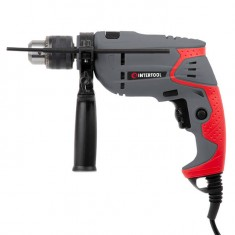 Impact drill 500W, 0-2700rpm, chuck jaw width, min./max. 1.5-13mm, reverse, continuous adjustment INTERTOOL DT-0107