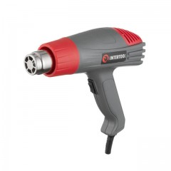 Heat gun 2000 W, 2 modes, working temperature 40-600 С, airflow 300-500 l/min INTERTOOL DT-2416