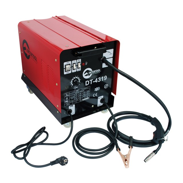 Welder semiautomatic 230 V, 7.5 kW, 40-180 A, wire diameter 0.6-0.8 mm INTERTOOL DT-4319