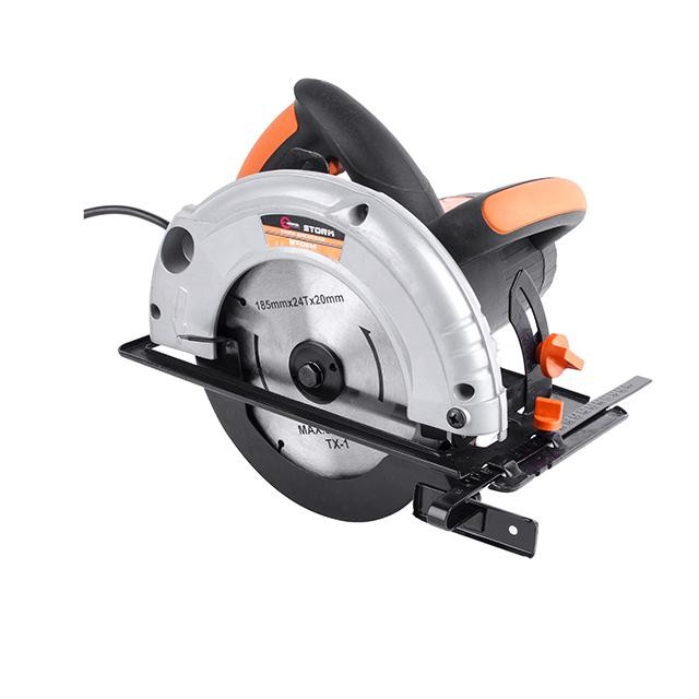 Circular saw STORM 1200 W, 4500 rpm, cutting depth (90°) 63 mm, cutting depth (45°) 38 mm, blade diameter 20 mm/185 mm INTERTOOL WT-0614