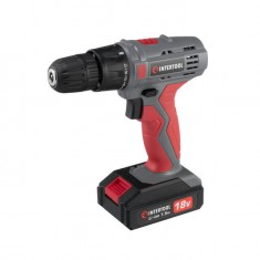 Cordless drill 18V, 2 batteries, 1 hour charging, 2 speed INTERTOOL DT-0315