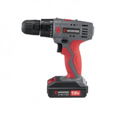 Cordless drill 18V, 2 batteries, 1 hour charging, 2 speed INTERTOOL DT-0315: фото 2