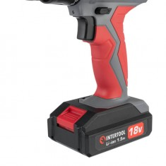 Cordless drill 18V, 2 batteries, 1 hour charging, 2 speed INTERTOOL DT-0315: фото 8