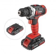 Cordless drill STORM, 18 V, 2 speed, 0-900 rpm, 2 batteries, torque control INTERTOOL WT-0314