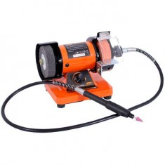 Bench grinder STORM 150 W, 0-10000 rpm, sand wheel 75 mm, polishing wheel 75 mm, flexible shaft INTERTOOL WT-0815