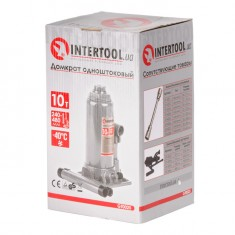 Bottle jack 10 T INTERTOOL GT0025: фото 4