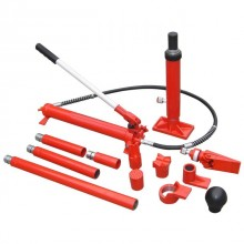 Long ram jacks set, hydraulic, 10 T INTERTOOL GT0202