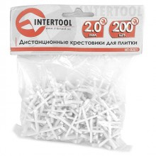 Cross distancers set 2,0 mm 200 pcs INTERTOOL HT-0351