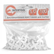 Cross distancers set 5,0 mm 100 pcs INTERTOOL HT-0355