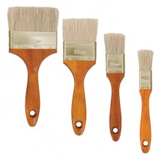 4 pcs flat paint brush set 25;36;63;102mm INTERTOOL KT-1004