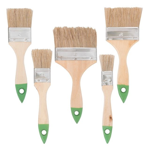 5 pcs flat paint brush set 25;38;50;76; 102mm INTERTOOL KT-1005